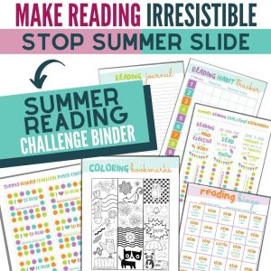 Summer Reading Challenge Binder