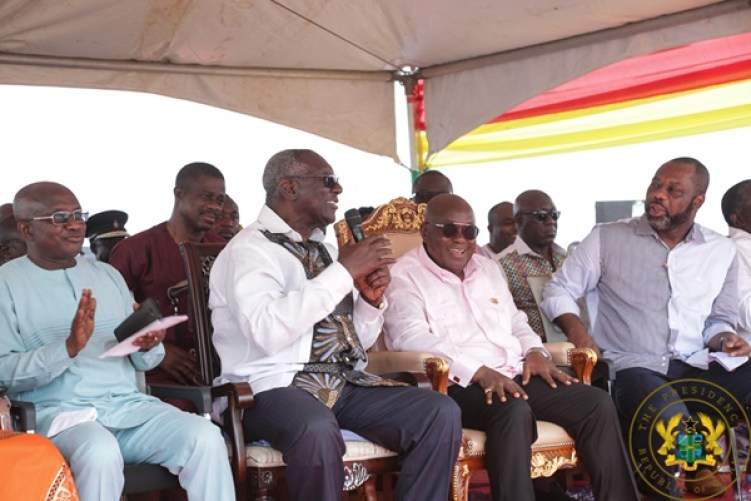 Image result for president cuts sod for construction of first ever creative arts school