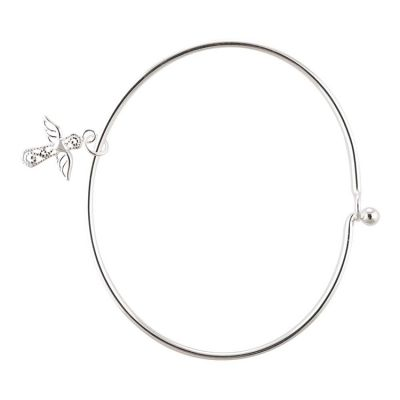 Bracelets : Bracelet Silver Plated Easter Angel Bangle
