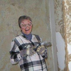 Renovierung - alte Tapete kommt weg