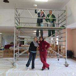 Renovierung - der Saal wird weiß