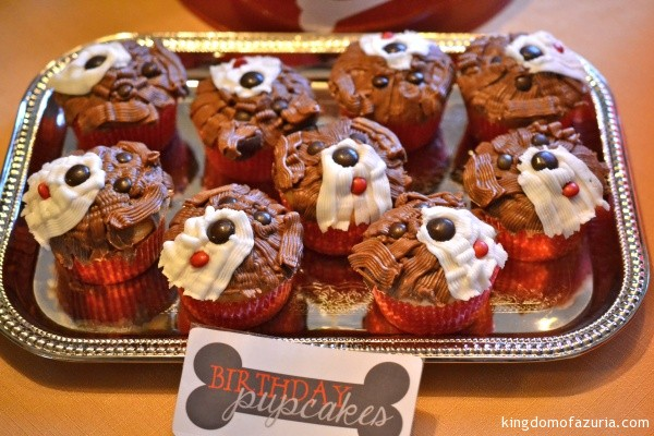 schnoodle cupcakes puppy party
