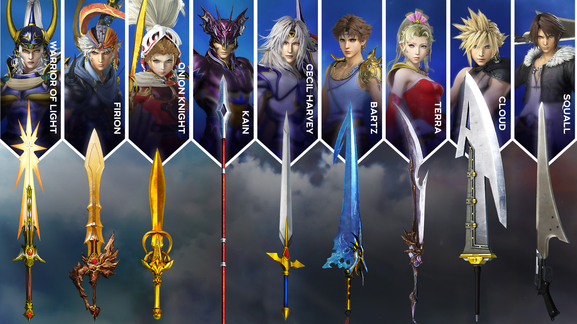 Weapons Pack Dlc Coming To Dissidia Nt Kingdom Of Fantasy