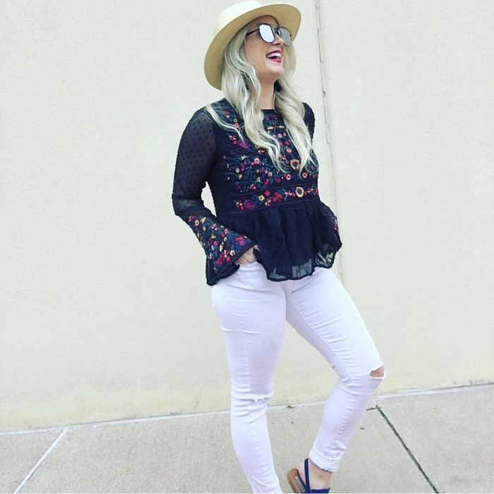 embroidered spring top