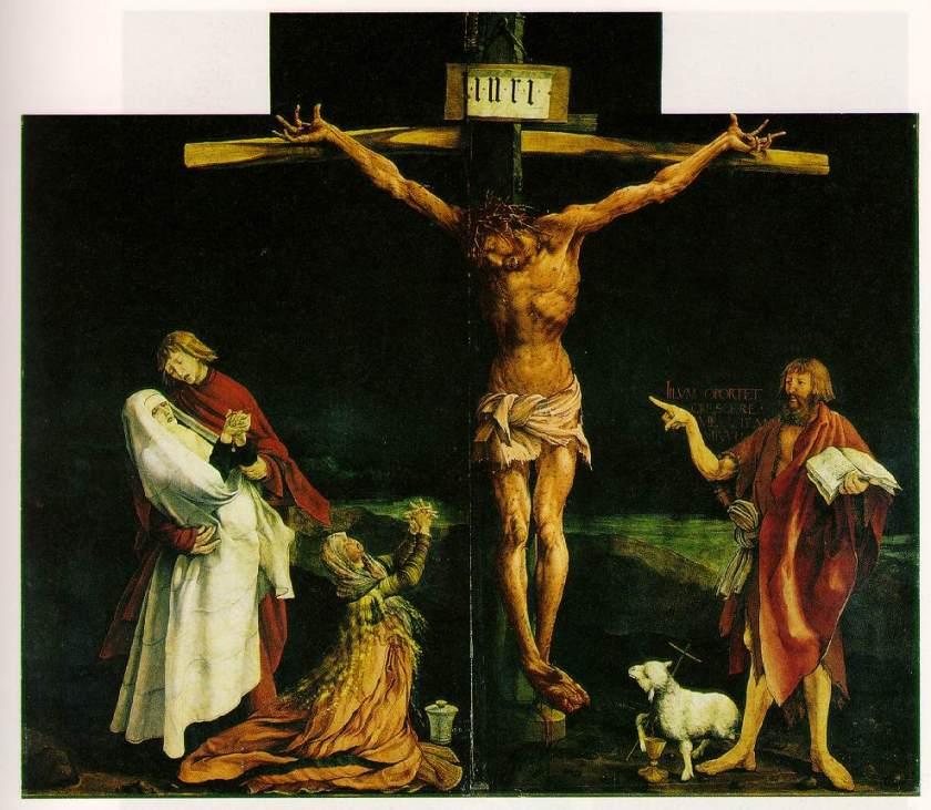 The Isenheim Altarpiece featuring John the Baptist