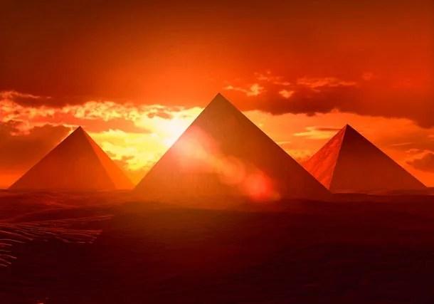 Pyramids orange