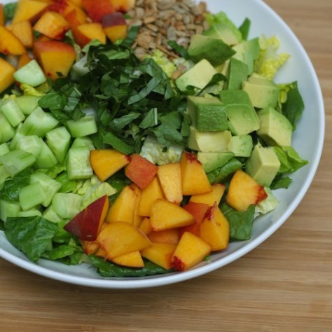 Peach Avocado Chopped Salad