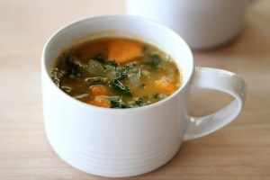Red Lentil Soup with Kale