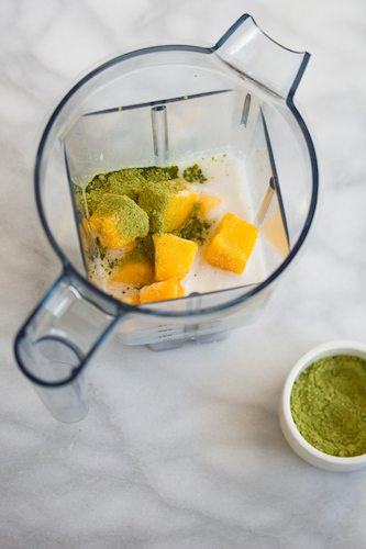 Matcha Tea Mango Smoothies