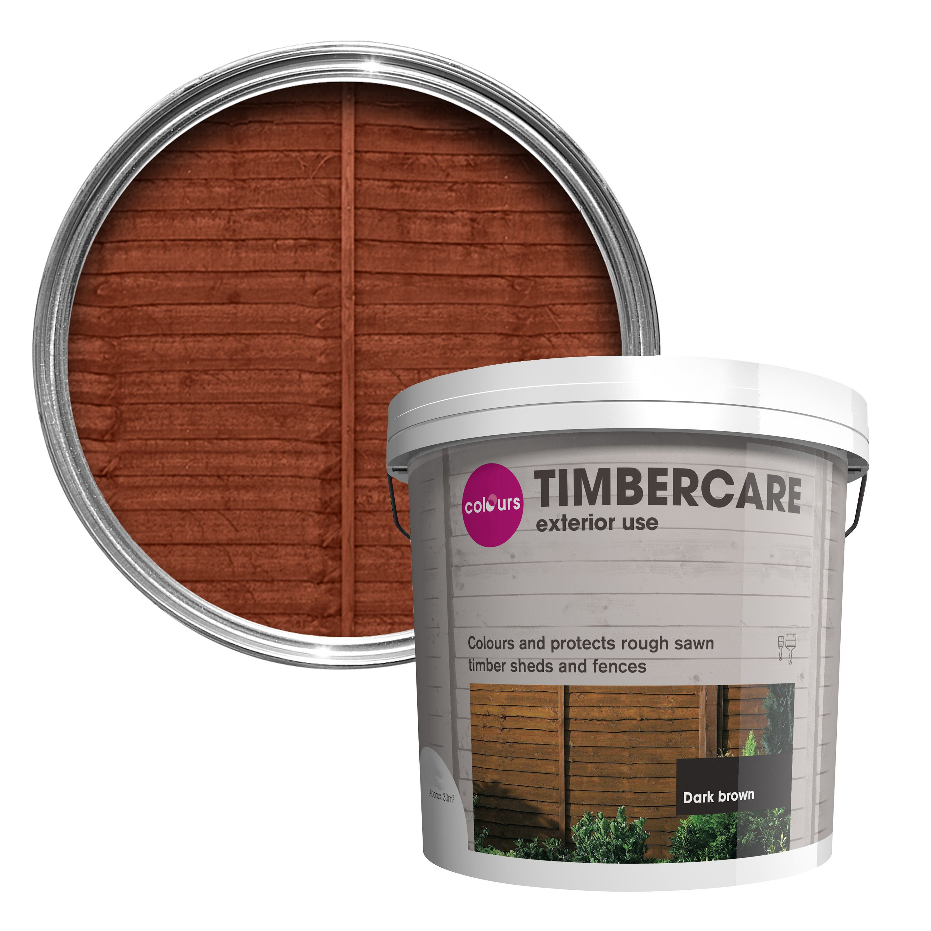 Colours Timbercare Dark Brown Shed Amp Fence Stain 9L