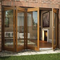 Oak Veneer Glazed Patio Patio Door, (H)2105mm (W)3005mm