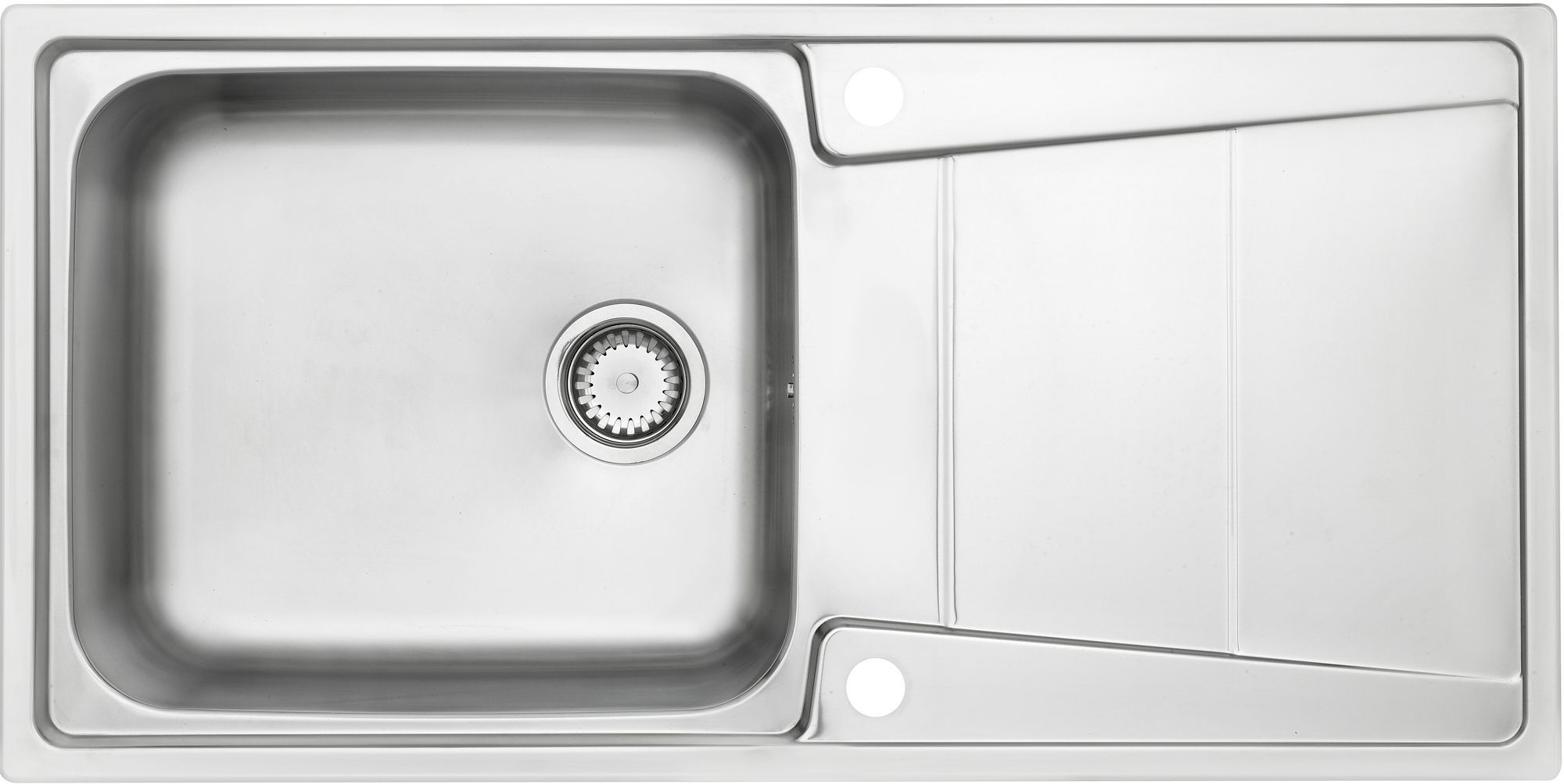 Cooke Amp Lewis Passo 1 Bowl Polished Stainless Steel Sink Amp Drainer Departments DIY At BampQ
