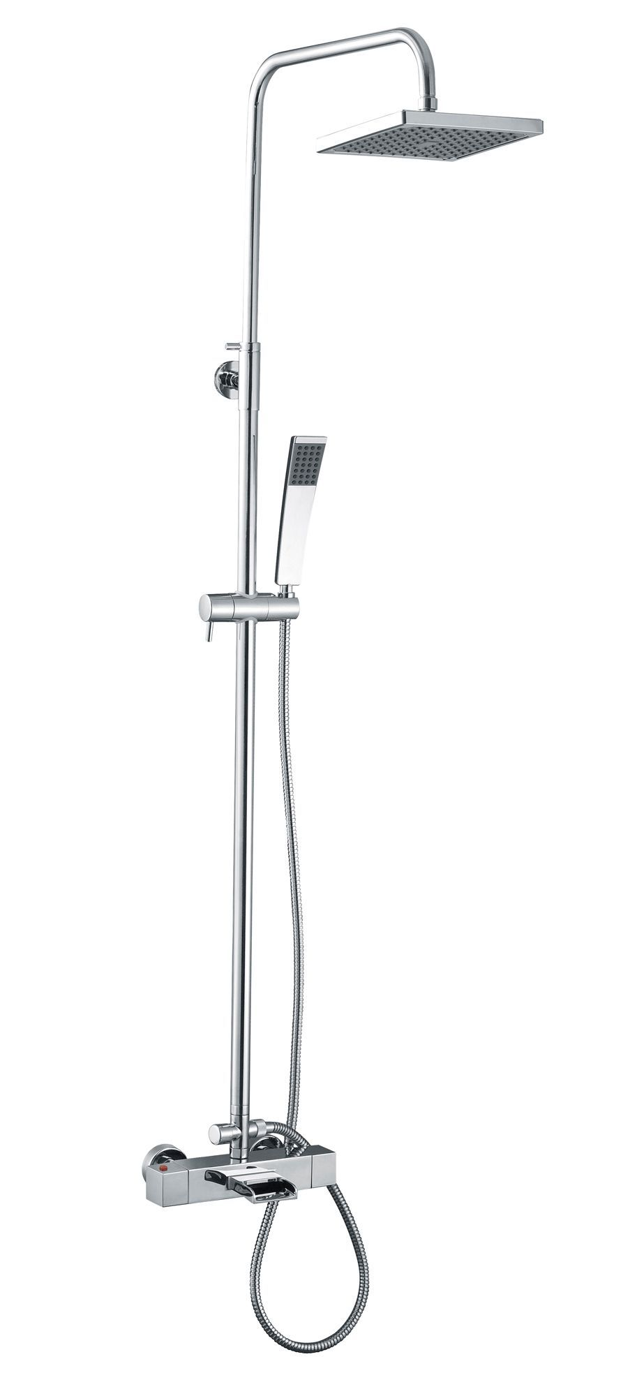 Cooke & Lewis Cascade Rear fed Chrome 3-in-1 mixer shower