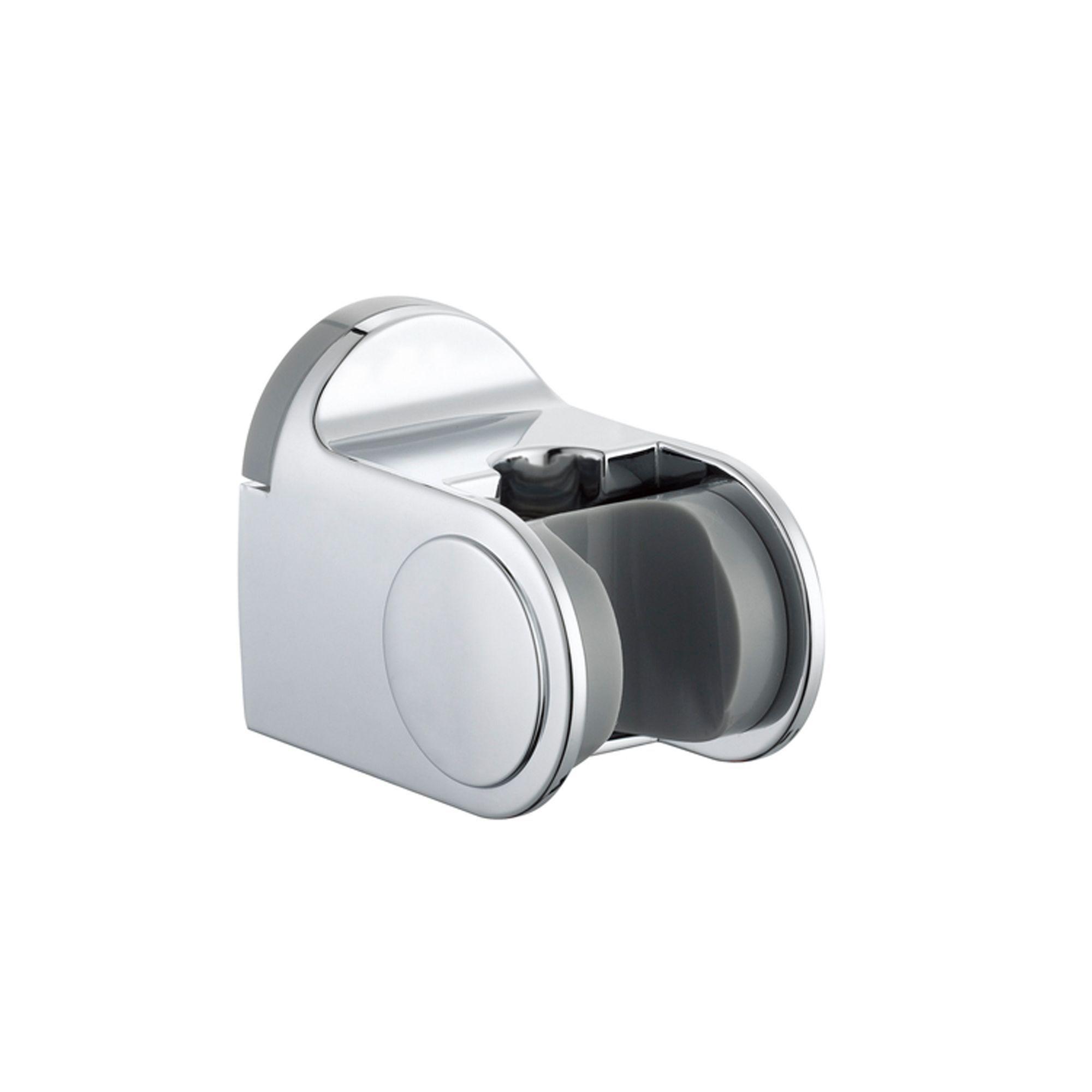 b&q kitchens kitchen kraft cabinets b&q silver chrome effect shower head holder | departments ...