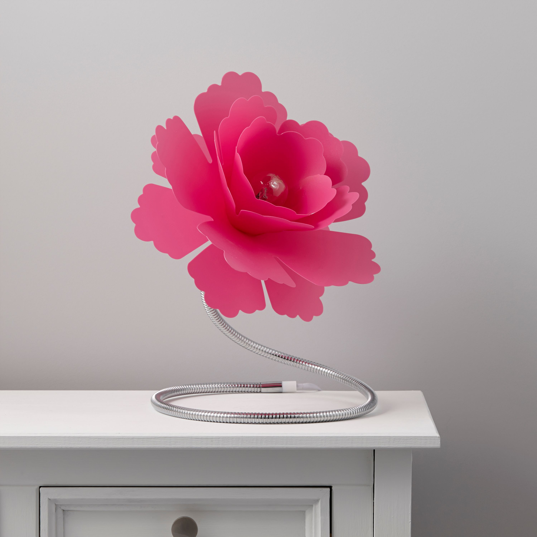 Paloma Flower Fuchsia Table lamp  Departments  DIY at BQ