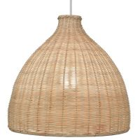 Colours Zena Natural Rattan Light Shade (D)33cm ...