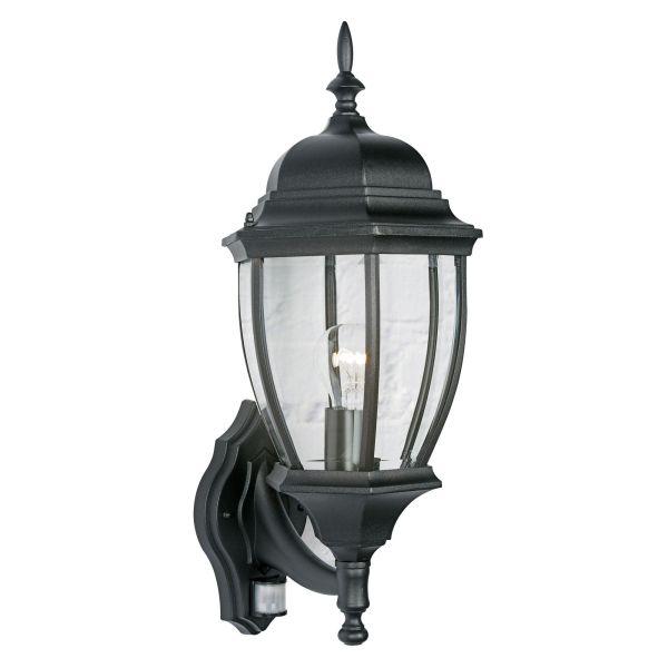 Lanark Black 60w Mains Powered External Pir Lantern Departments Diy &