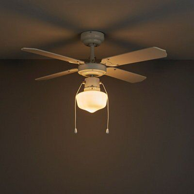 White Ceiling Fans with Lights