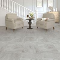 Leggiero Light grey Slate effect Laminate flooring 1.86 m ...