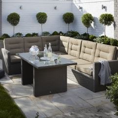 Rattan Effect Garden Corner Sofa Set True Modern Luna Condo Kington 7 Seater Dining Departments