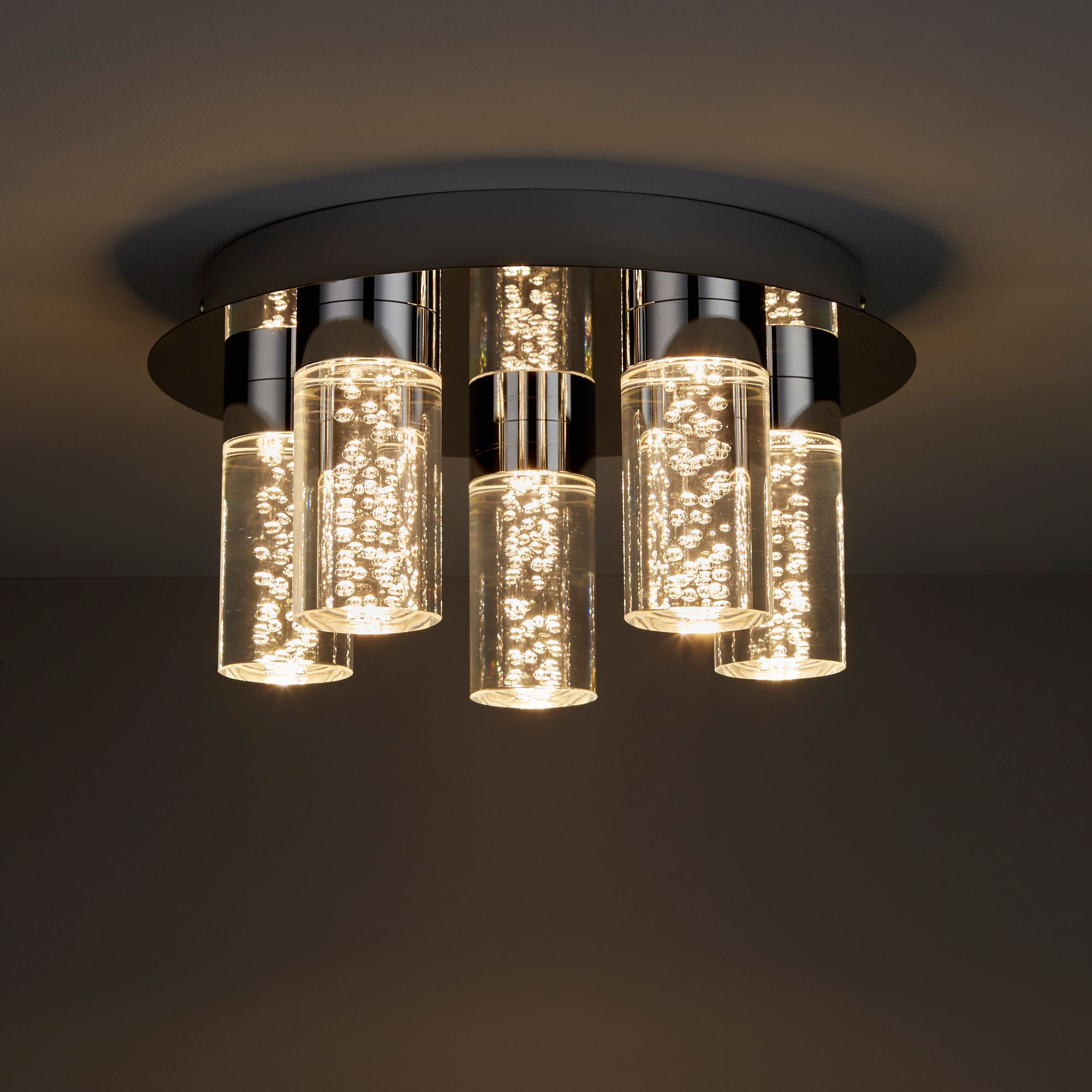 Hubble Chrome effect 5 Lamp Bathroom ceiling light  Departments  DIY at BQ