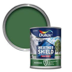 Wood Lawn Chairs Home Desk Dulux Weathershield Buckingham Green Gloss & Metal Paint 0.75l   Departments Diy At B&q