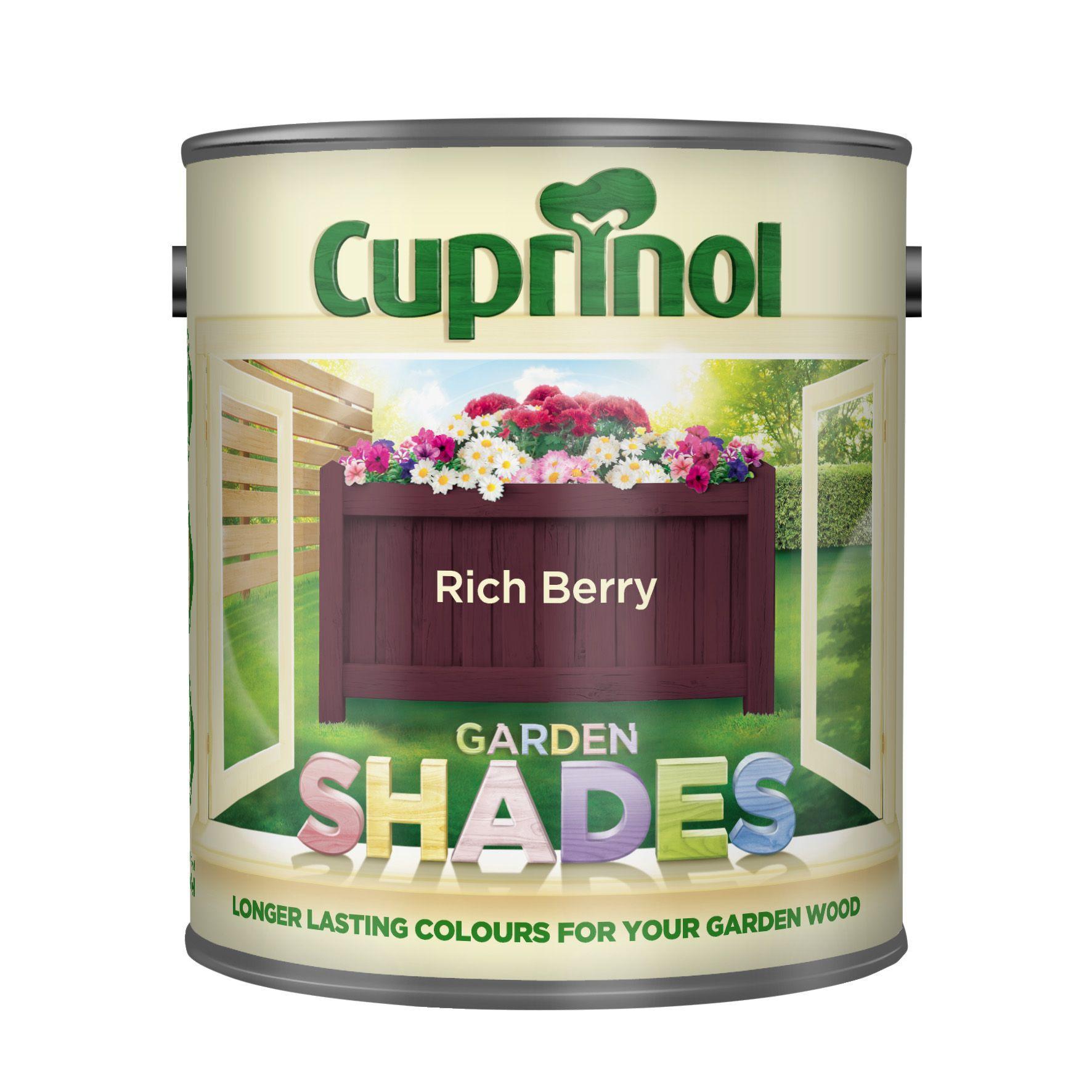 Cuprinol Garden Shades Rich Berry Matt Wood Paint 1L  Departments  DIY at BQ