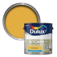 Dulux Kitchen Honey Mustard Matt Emulsion Paint 2.5L ...
