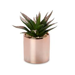 B&q Kitchens Wicker Kitchen Chairs Rose Gold Pot With Faux Plant | Departments Diy At B&q