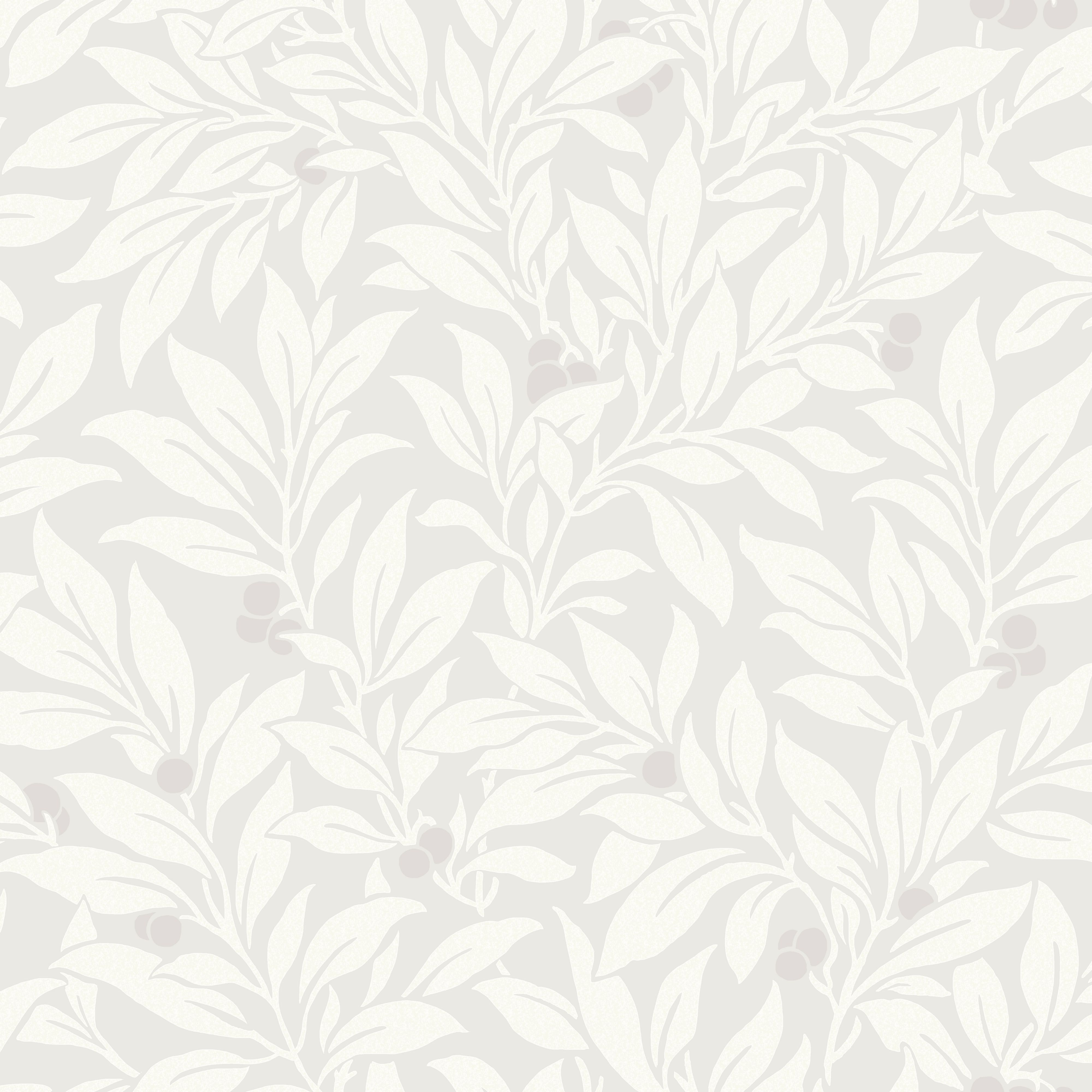 Fine dcor Mulberry Soft grey Floral Wallpaper