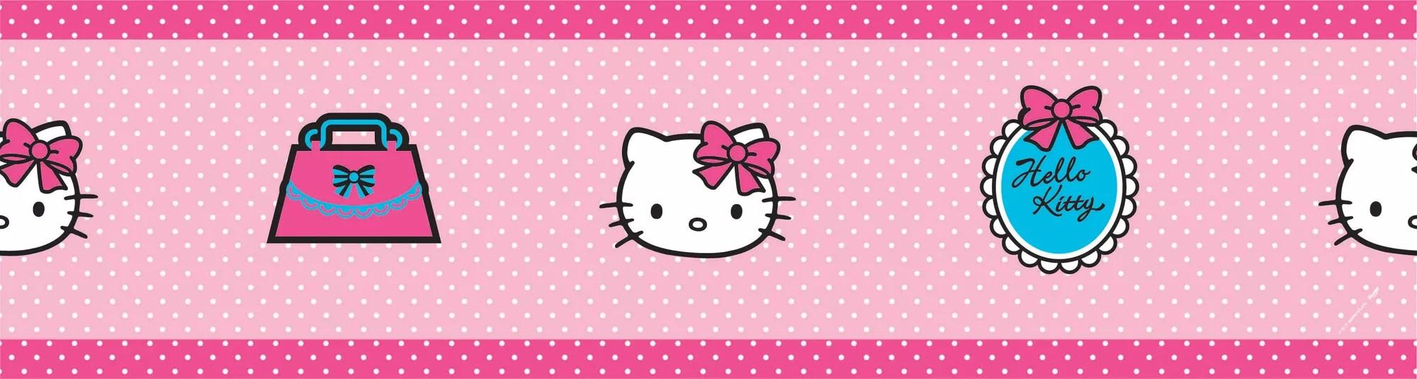 Decofun Hello Kitty Pink Border Departments DIY At BampQ
