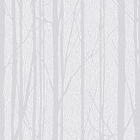 Craig & Rose White Trees Paintable Wallpaper   Departments ...