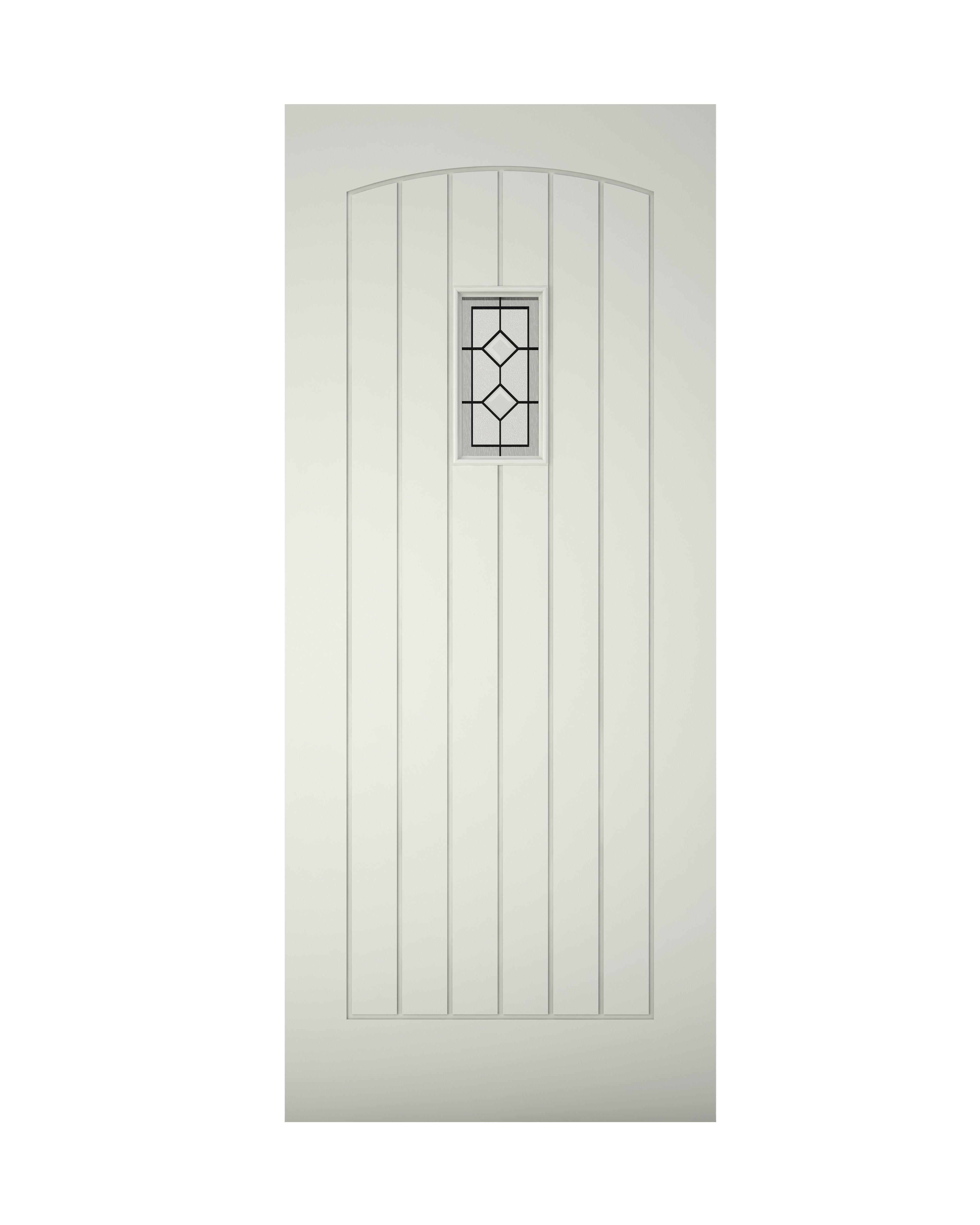 Cottage Panelled Primed Glazed Front Door Amp Frame H2074mm W932mm Departments DIY At BampQ