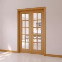 10 Lite Clear Glazed Internal French Door Set, (H)2030mm ...
