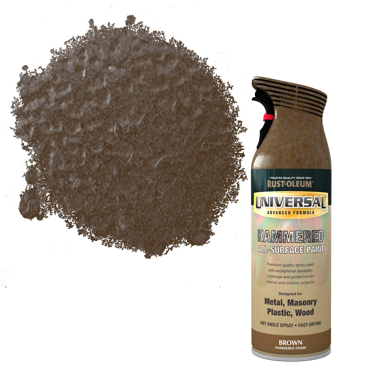 RustOleum Universal Brown Hammered effect Allsurface