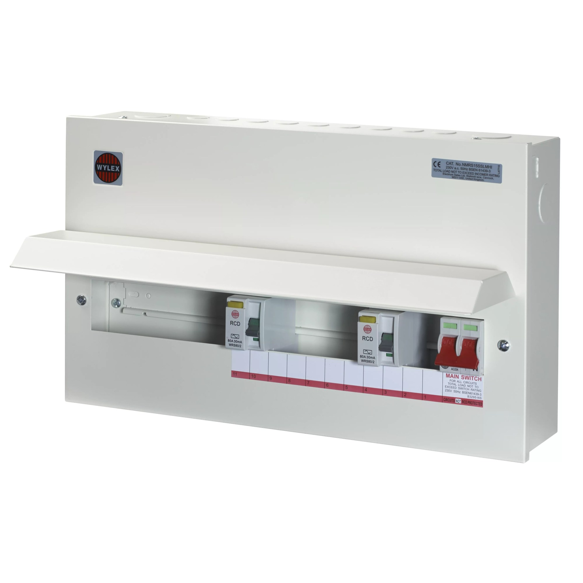 hight resolution of wylex 100a 15 way metal high integrity dual rcd consumer unit departments diy at b q