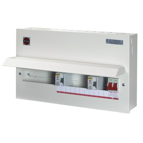 small resolution of wylex 100a 15 way metal high integrity dual rcd consumer unit departments diy at b q