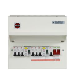 wylex 100a 7 way metal high integrity dual rcd populated consumer unit departments diy at b q [ 2028 x 2028 Pixel ]