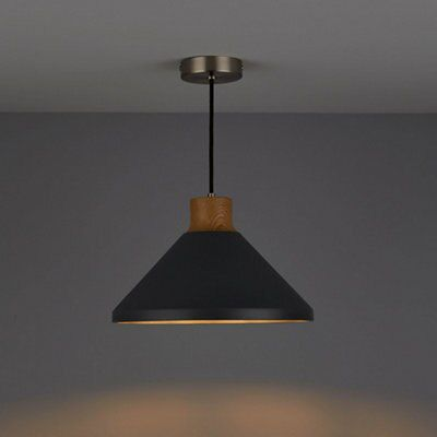 ceiling lights for kitchen outdoor griddle corbyn concrete & wood effect pendant light ...