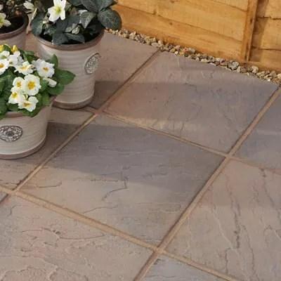 Brown blend Derbyshire Paving slab L450 W450mm Pack of