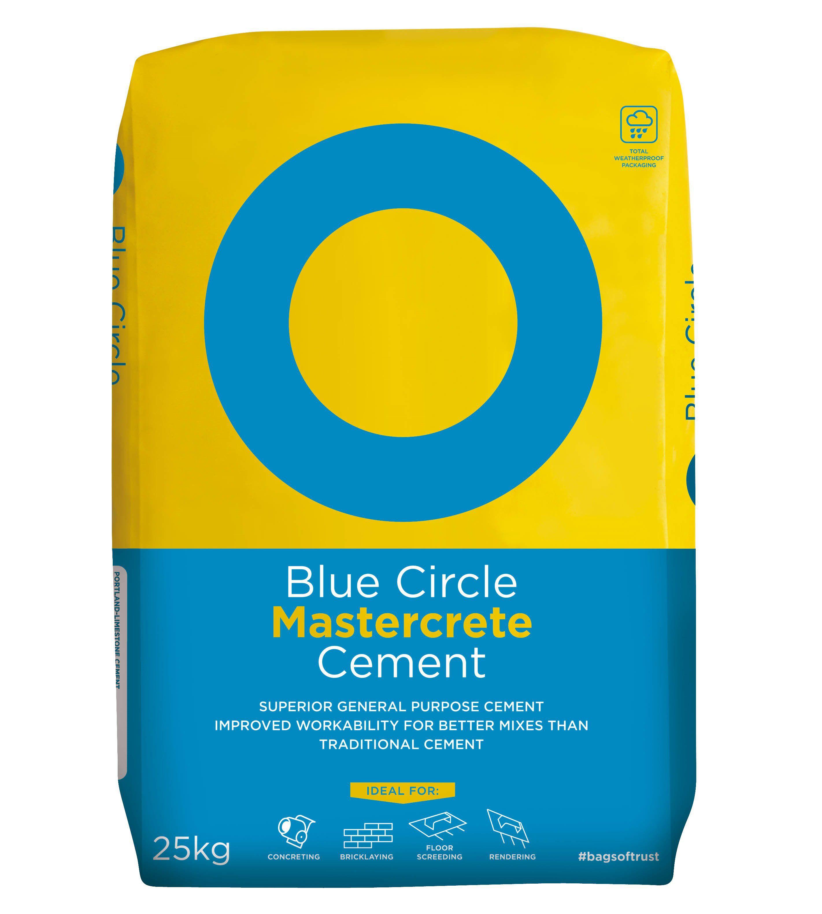 Blue Circle Mastercrete Cement 25kg Bag  Departments