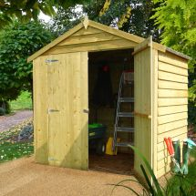 6x4 Sheds Storage Apex Overlap Double Door Wooden Shed