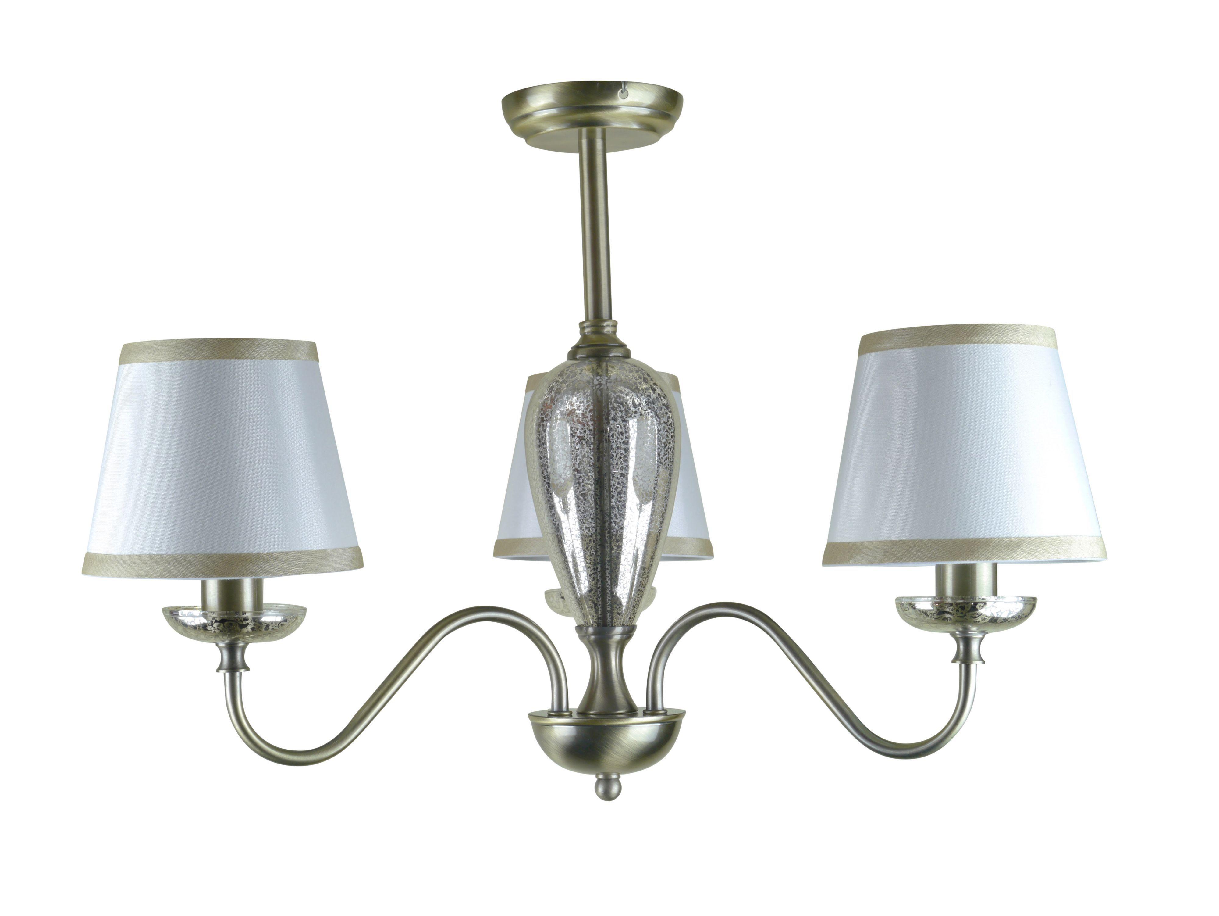 Manor Antique Brass Effect 3 Lamp Ceiling Light
