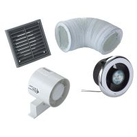 Manrose VDISL100S Shower Light Bathroom Extractor Fan Kit ...