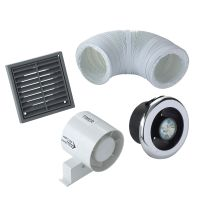Manrose VDISL100T Shower Light Bathroom Extractor Fan Kit ...