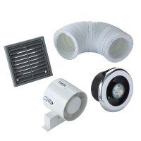 Manrose VDISL100T Shower Light Bathroom Extractor Fan Kit ...
