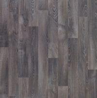 Dark grey Oak effect Vinyl flooring 4 m | Departments ...