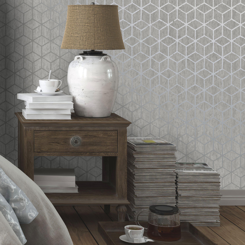 Statement Silver effect Rochester Metallic effect Wallpaper  Departments  DIY at BQ