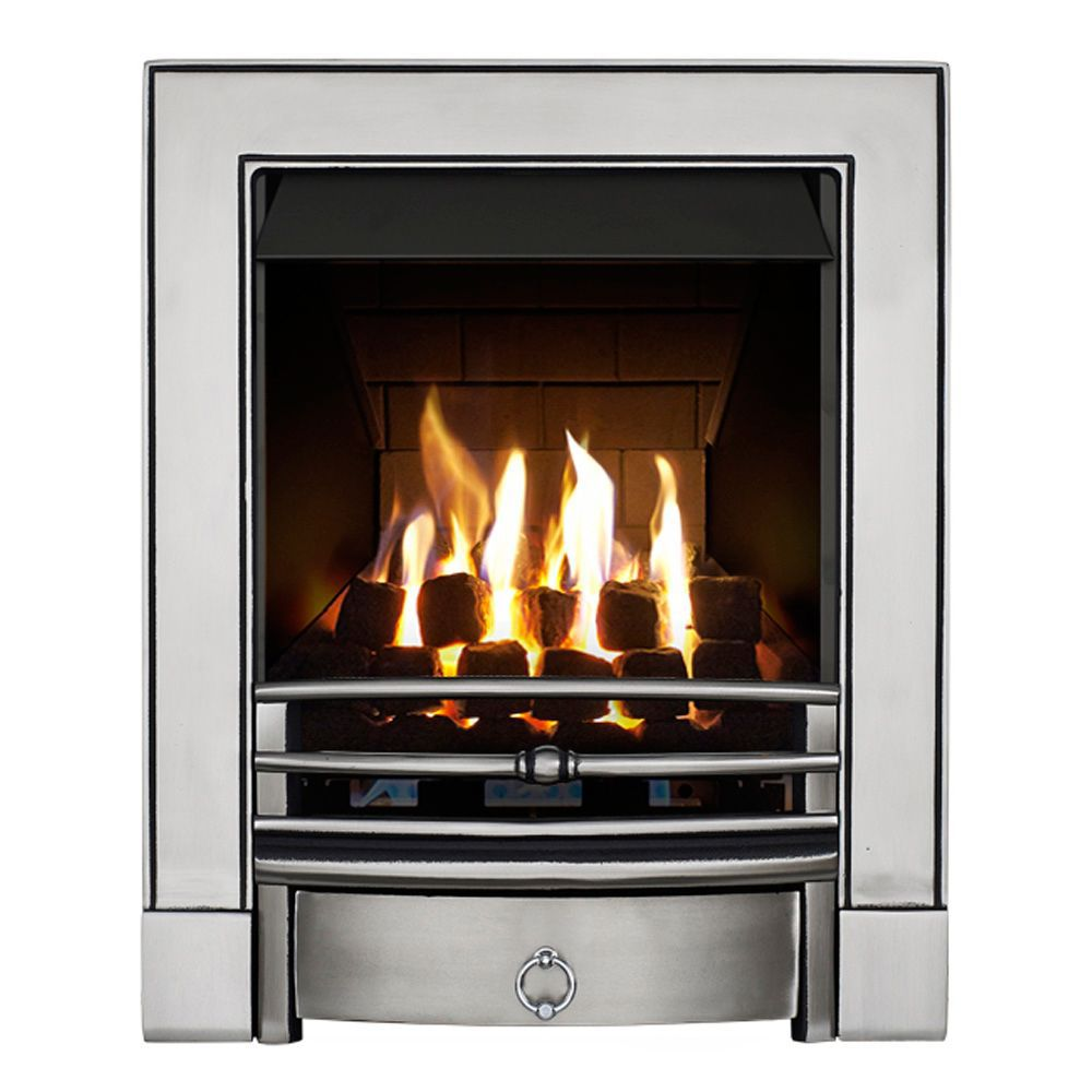 Focal Point Soho Multi Flue Satin Chrome Remote Control