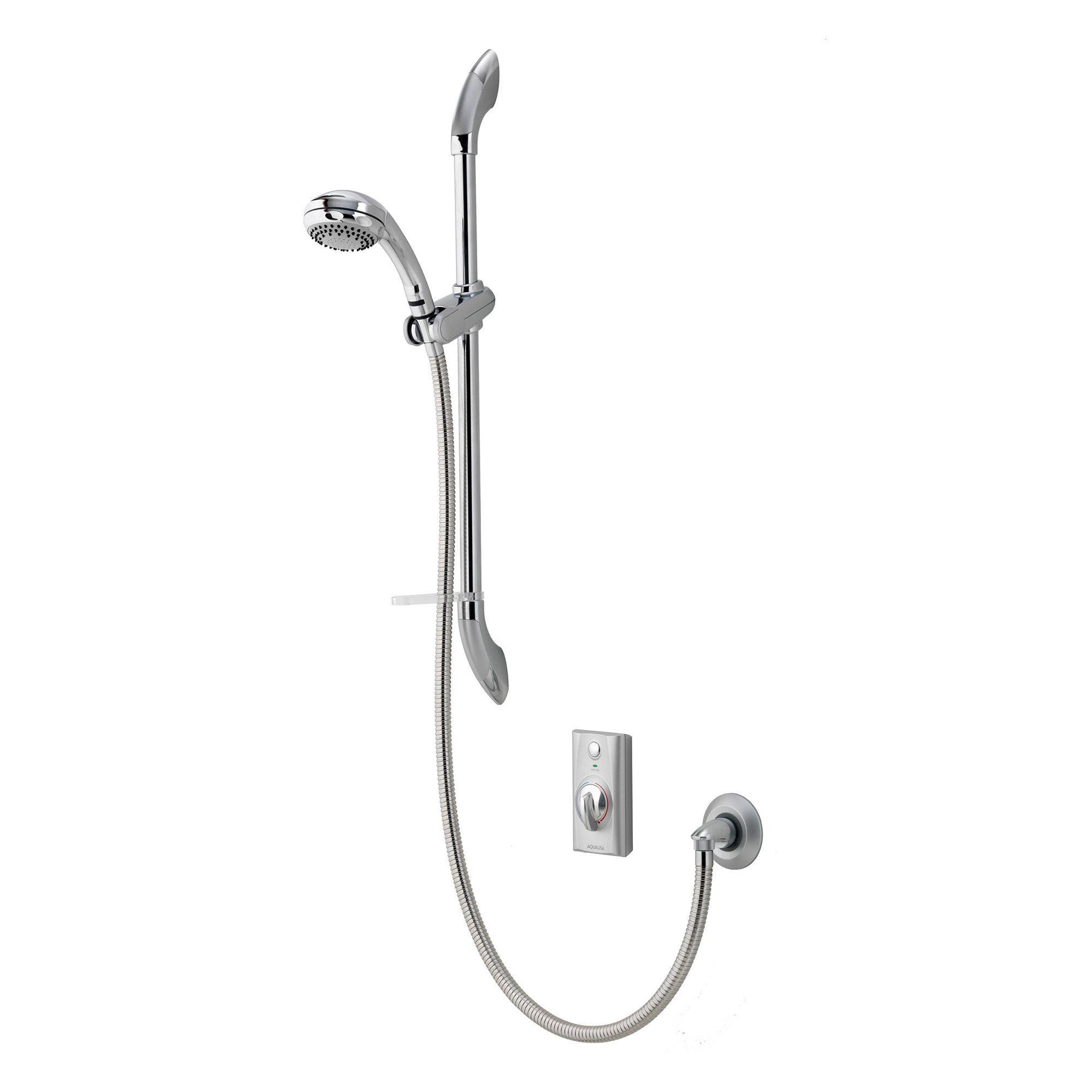 Aqualisa Visage Chrome effect Manual Digital mixer shower